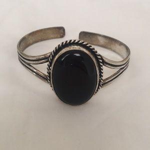 Jewelry - Vintage Black Onyx Cuff